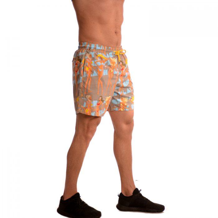 Плажни шорти със супер свеж принт. Произведено в България!