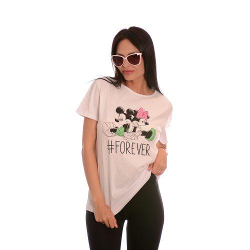 Дамска тениска Mickey Mouse #Forever - памук и ликра