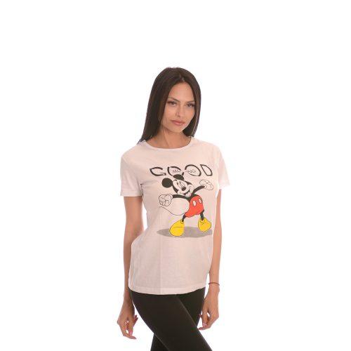 Дамска бяла тениска с Мики Маус