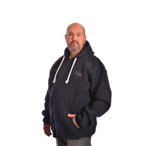 Мъжки зимен суитшърт за едри мъже - Модел 2021г