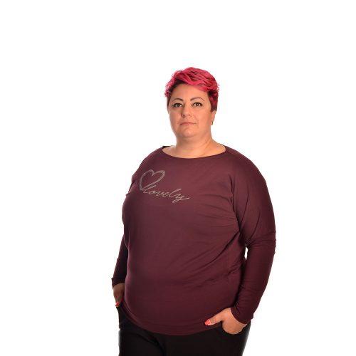 Дамска блуза с дълъг ръкав PLUS SIZE - Макси размер